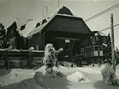 Lanovka na Černou horu, kolem roku 1930