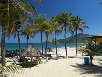 Isla Margarita, pláž Puerto Cruz