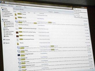 Windows 7 - zadání klíčového slova pro vyhledání