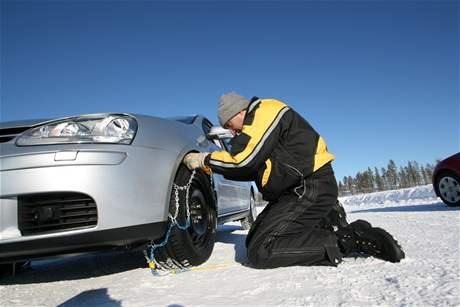 Test sněhových řetězů