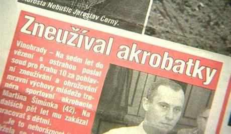Titulek z novin