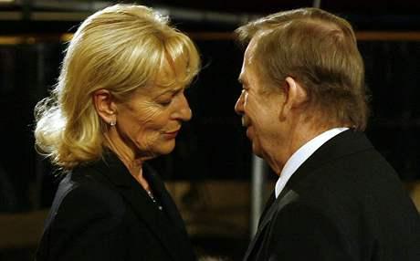 Václav Havel na pohřbu Helmuta Zilka