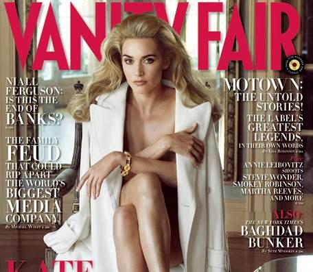 Kate Winsletová na obálce prosincového čísla Vanity Fair