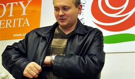Předseda poslaneckého klubu ČSSD a kandidát na hejtmana Jihomoravského kraje Michal Hašek na jednání klubu krajských zastupitelů strany o podobě budoucí krajské koalice.