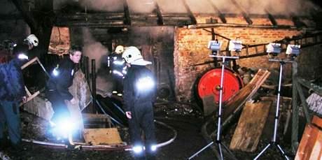 Při požáru kůlny a chléva ve Vavřinci na Blanensku uhořely koza, prase, slepice a další domácí zvířata.