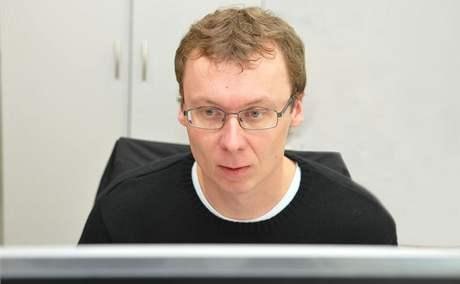 Manažer Velkého Špalíčku Živan Novotný při on-line rozhovoru