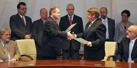 Podpis koaliční smlouvy v Jihomoravském kraji