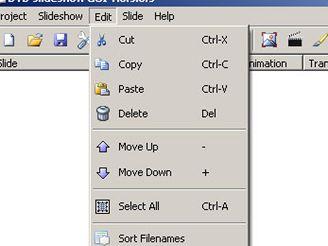 DVD slideshow GUI