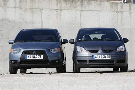 Mitsubishi Colt - vlevo s novou tváří