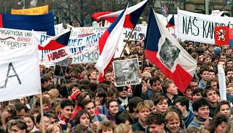 revoluce, sametová, listopad, 1989, převrat