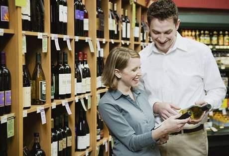 Víno, alkohol, nákup