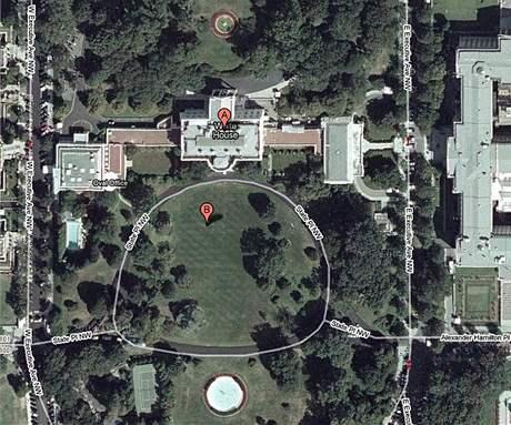 Satelitní snímek Bílého domu