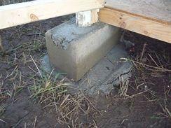 Betonové patky na sloupky