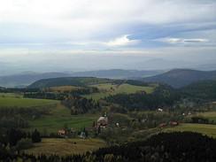 Vesnice Pasterka a Krkonoše z Hejšoviny