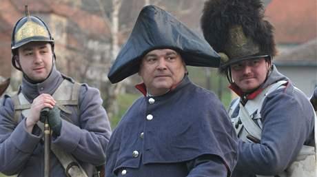Pochod napoleonských vojáků skončil před obecním úřadem v Heršpicích.