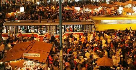 Rozsvícení vánočního stromečku na náměstí Svobody v Brně