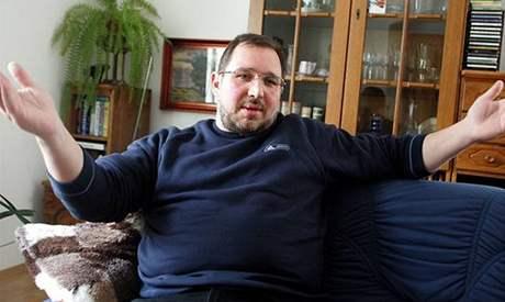Petr Kott doma v Doksech (15. dubna 2004)