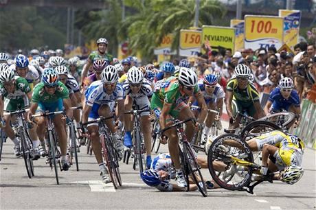 Z knihy ReCycling - Tour de Langkawi 2008 (Maljasie, Danilo Hondo, Alberto Loddo)