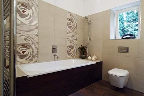 Koupelna je pojata v orientálním stylu