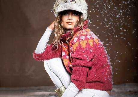 Pletená zimní móda