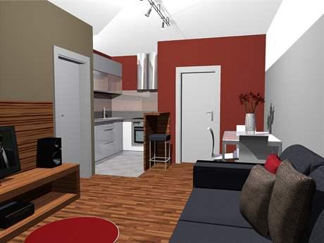 Proměna panelového bytu - druhá varianta