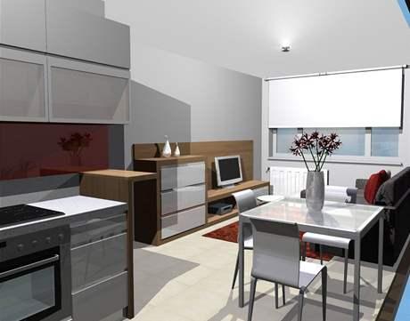 Proměna panelového bytu - třetí varianta