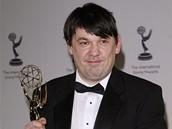 Ud�lov�n� mezin�rodn�ch televizn�ch cen Emmy 2008 - irsk� spisovatel a re�is�r Graham Linehan