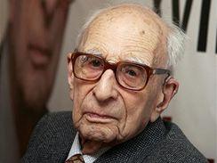 Claude Lévi-Strauss, francouzský antropolog. 28. listopadu 2008 se dožil sta let.