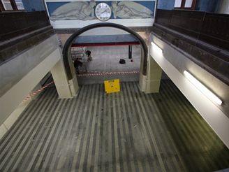 Hlavní nádraží - pohled na podchod z Fantovy budovy