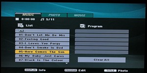 SCREEN - MP3 menu (JVC)