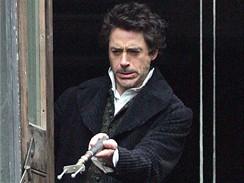 Z natáčení filmu Sherlock Holmes - Robert Downey jr.