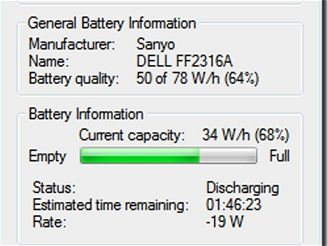 Energie v bateriích