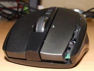 Myš s laserovým ukazovátkem