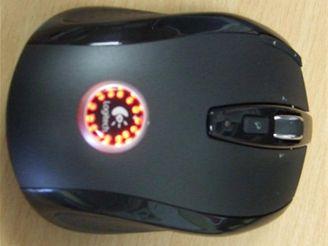 Myš se svítícím logem