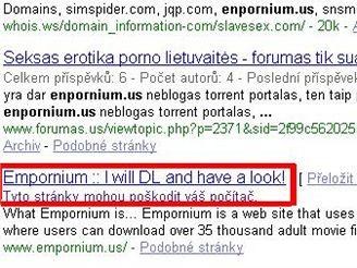 Varování Google před nebezpečnou stránkou