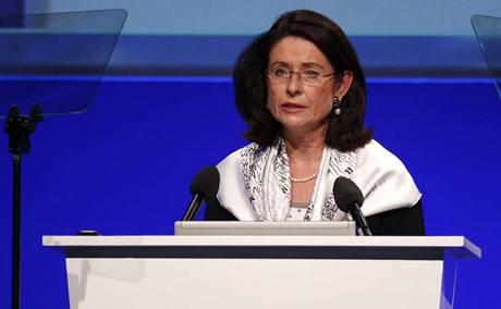 Místopředsedkyně Sněmovny Miroslava Němcová na kongresu ODS (6. 12. 2008)