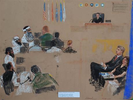 Na Guantánamu pokračovalo předběžné líčení s pěticí obviněných z organizování teroristických útoků 11. září.