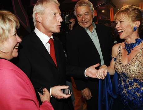 Dana Batulková se pozdravila s Ladislavem Špačkem