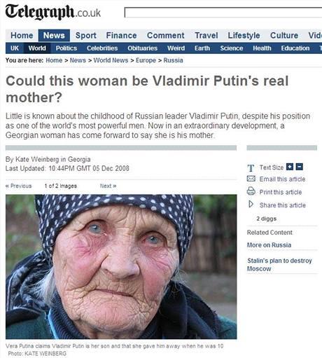 �dajnou matku objevila report�rka listu The Daily Telegraph.