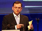 Ministr práce a sociálních věcí Petr Nečas na kongresu ODS (6. 12. 2008)