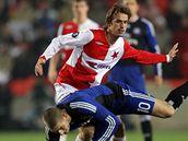 Slavia - Hamburk: Marek Jarolím a Petrič