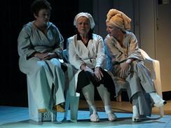 Z inscenace Mikve (Jana Boušková, Iva Janžurová a Taťjana Medvecká)