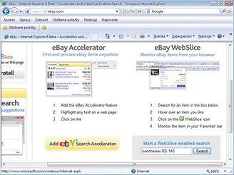 Internet Explorer 8 na eBay