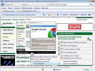Internet Explorer 8 - akcelerátor