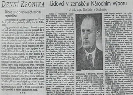 Rostislav Sochorec starší v dobovém tisku