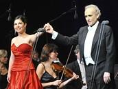 Španělský tenorista José Carreras vystoupil v pražském Kongresovém centru