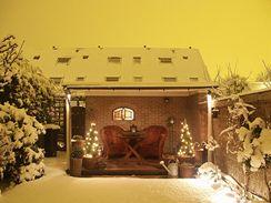 I v zimě si můžete užít romantické posezení na terase