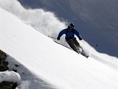 Lyžař Martin Knybel, Verbier-Švýcarsko