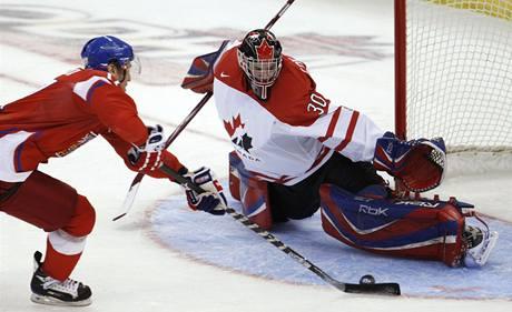 Česko 20 - Kanada 20: Vladimír Růžička a Dustin Tokarski