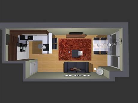 Pět variant obývací kuchyně v novostavbě